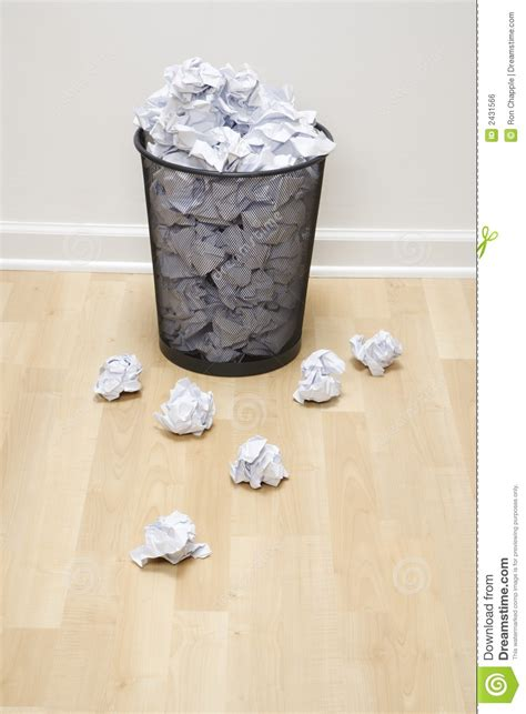 How To Make Paper Trash Can - trash can and paper stock photo image of 070119j0708