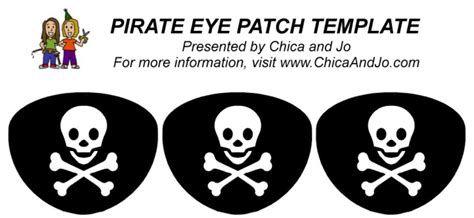 pirate eye patch template pirate eye patch