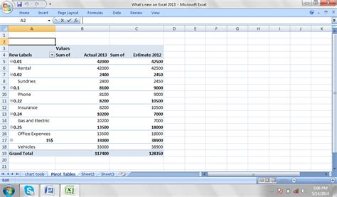 Pivot Tables In Excel 2013 by Best Excel Tutorial What S New In Excel 2013