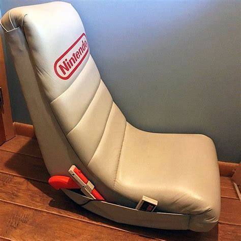 nintendo chair vintage nintendo gray videogames low rocker gaming chair
