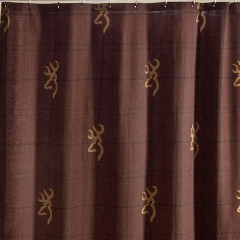 Burgundy Shower Curtain by Browning Buckmark Burgundy Shower Curtain Free Shipping
