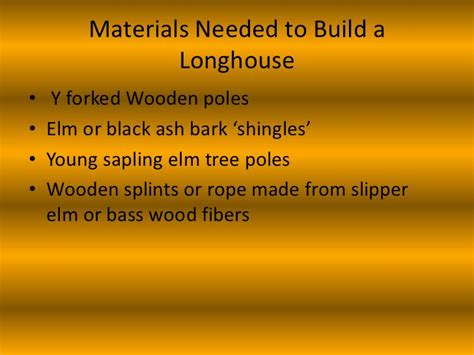 what do you need to build a house how to build a longhouse