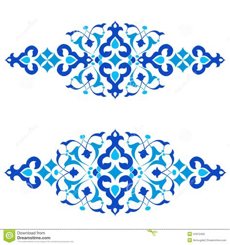 Ottoman Motifs Blue Design Series Of Fifty Three Stock Ottoman Motifs