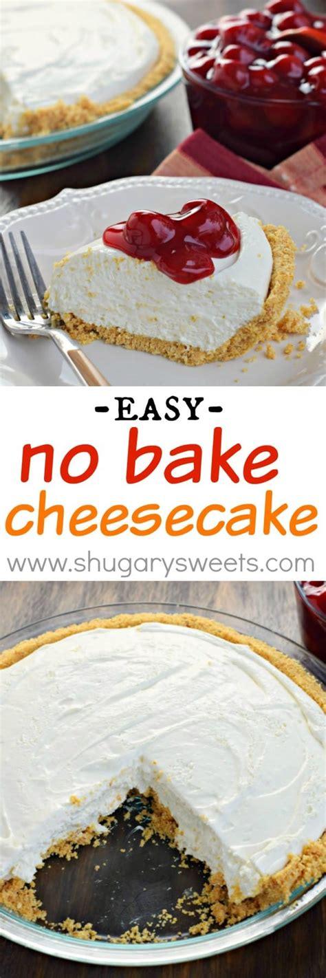no bake cheesecake shugary sweets
