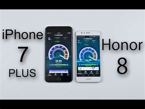 iphone 7 plus vs huawei honor 8 speed battery multitasking heat test comparison review