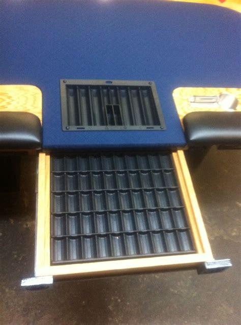 custom poker table  dealer spot drawer chip trays