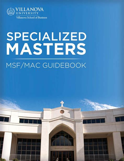 Villanova Mba Tuition by 2017 18 Specialized Masters Guidebook By Villanova School