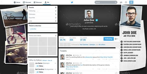 Twitter Layout Preview | twitter background design by themeboo graphicriver