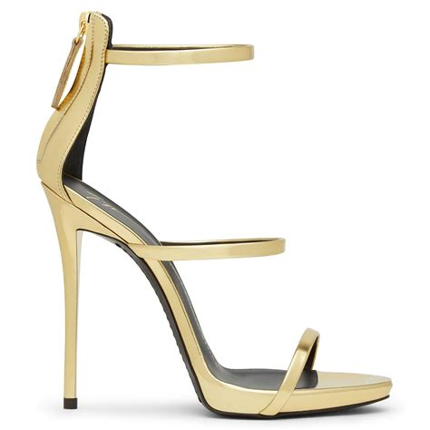 high heels gold sandals giuseppe zanotti harmony mirrored gold high heel sandals