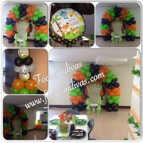 Jungle Theme Baby Shower Balloons by 7 Best Jungle Theme Birthday Decorations Images On
