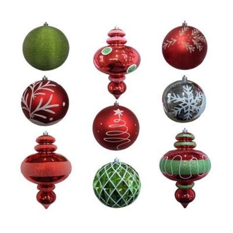 shatterproof ornament set 9 piece hg34 dx935 the home