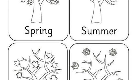 4 seasons colouring pictures four seasons primary
