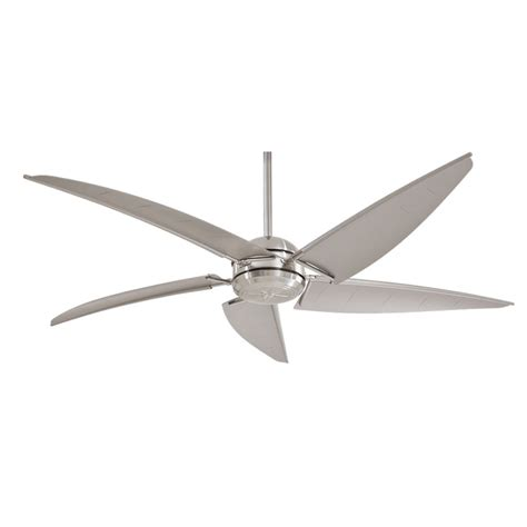 Outdoor Ceiling Fan With Light Minka Aire Magellan F579 L Bnw 60 Quot Outdoor Ceiling Fan With Light