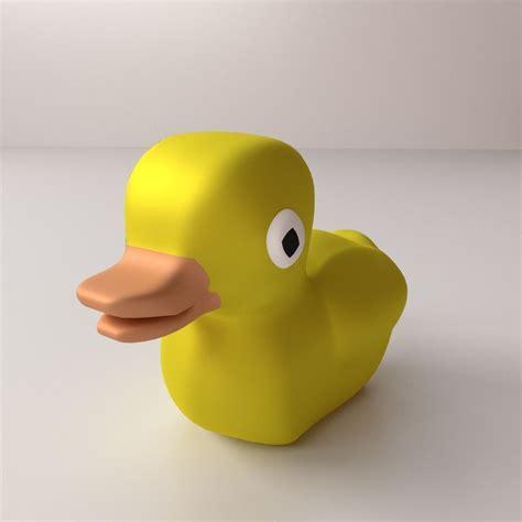3d Rubber Duck rubber ducky 3d model 3ds fbx blend dae cgtrader