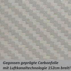 Carbon Folie Zuschnitt by Carbonfolie Silber Grau