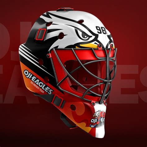 bauer goalie mask template hockey goalie mask mockup templates sports templates
