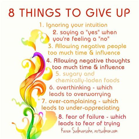 8 Things About by 8 Things To Give Up