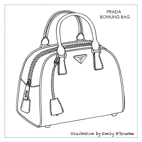 Sketches Bags by Prada Bowling Bag Designer Handbag Illustration
