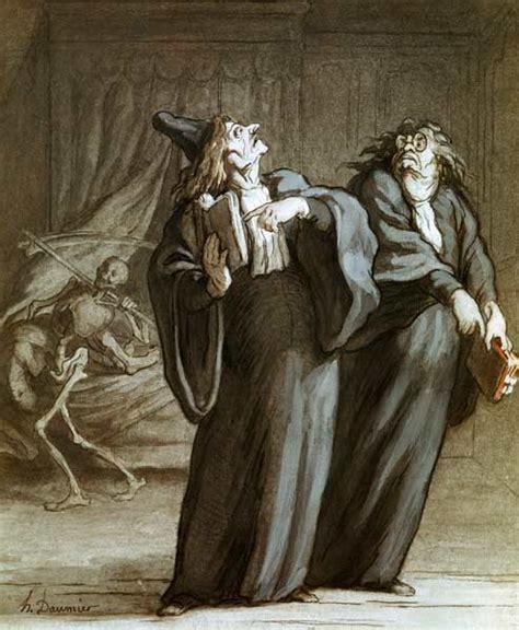 Mort H Drawings by H Daumier Deux Medecins Et La Mort Honor 233 Daumier As