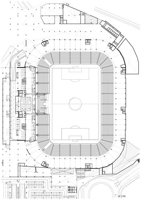 football stadium floor plan gallery of football stadium of sports park stožice sadar vuga 15