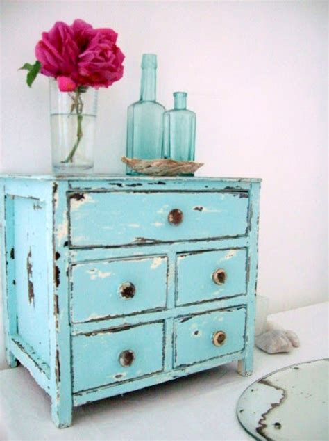 Turquoise Distressed Dresser by The Fisherman S Cottage A Turquoise Distressed Jewellery Box