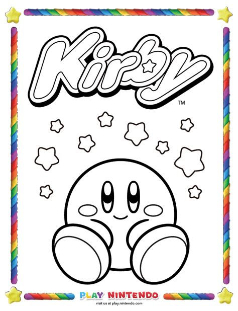coloring book spotify release play nintendo releases free kirby coloring book pages