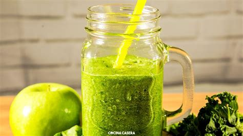 Green Detox Juice With Kale by Cocina Casera Recipes Easy And Simple Recipes Green