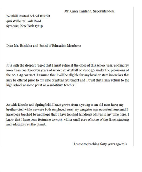 new resignation letter template 7 free word pdf
