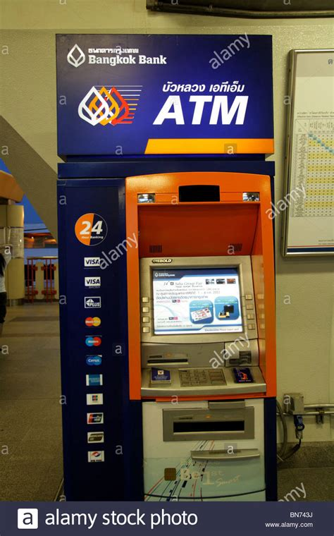 bangkok bank mobile atm machine bangkok thailand stock photo royalty free
