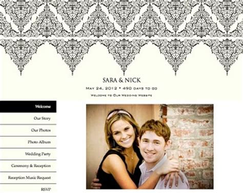 Wedding Photo Website by Wedding Website Exles Set Up A Wedding Website Tips