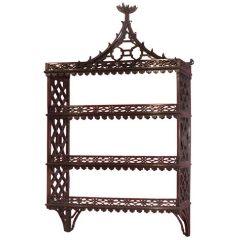Chippendale Wall Shelf by Chippendale Hanging Shelf At 1stdibs