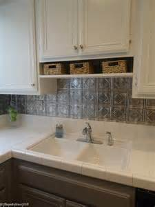 Gray Backsplash Kitchen by Remodelaholic Gray And White Kitchen Makeover With