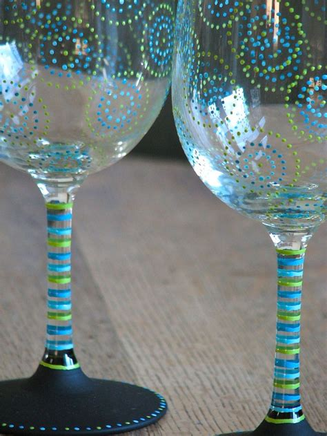 glass acrylic painting best 25 painted wine glasses ideas on pinterest hand