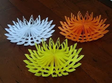 3d Decorations To Make Out Of Paper - how to make beautiful paper decoration 3d snowflake for