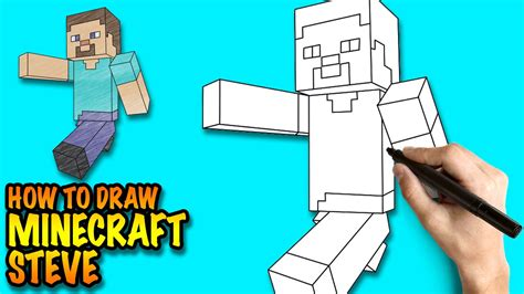 How To Make A Minecraft Steve Out Of Paper - how to draw minecraft steve easy step by step drawing