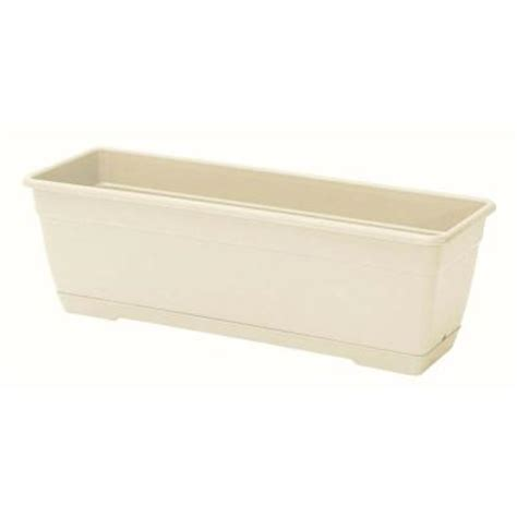Planter Box Home Depot by Marchioro 15 25 In Sandstone Window Box Planter 364153x