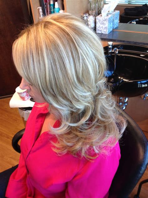 using a brush for lowlights blonde highlights lowlights thick curl hair with round
