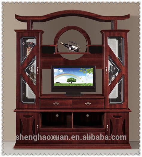 lcd tv showcase furniture design images hot selling chinese antique tv cabinet with showcase 856