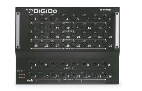 d d digico d rack floor mount 32 in 16 out stage box