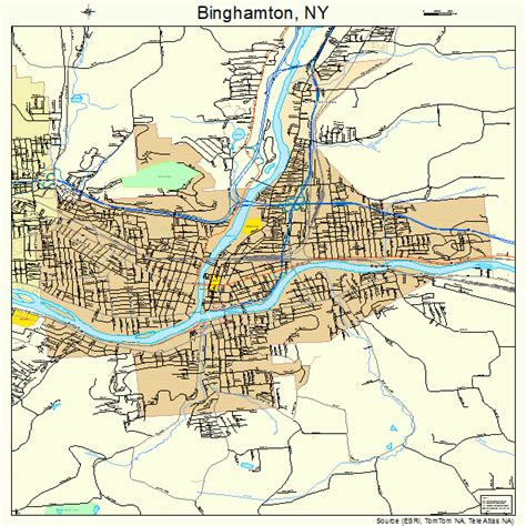binghamton map binghamton new york map 3606607