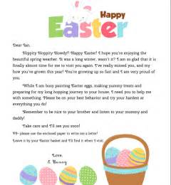 letter to easter bunny template personalized letter from the easter bunny for your child