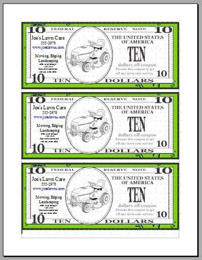 money coupon template play money template microsoft word