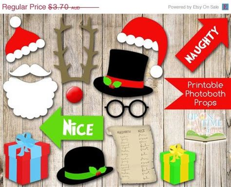 download themes for photo booth instant download christmas photobooth props printable