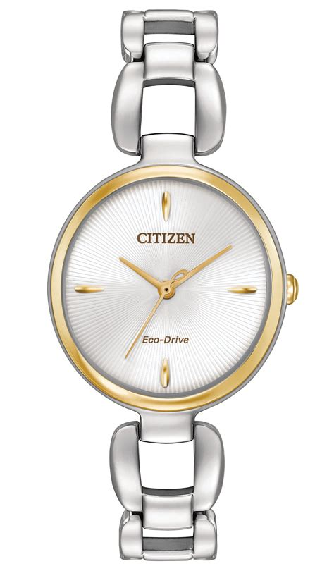 citizen eco drive em0424 53a two tone