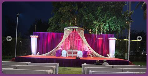 a wedding planner wedding and reception stage