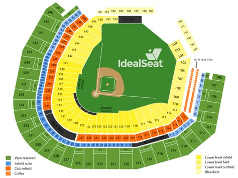 best seats at safeco field image gallery mariners seating