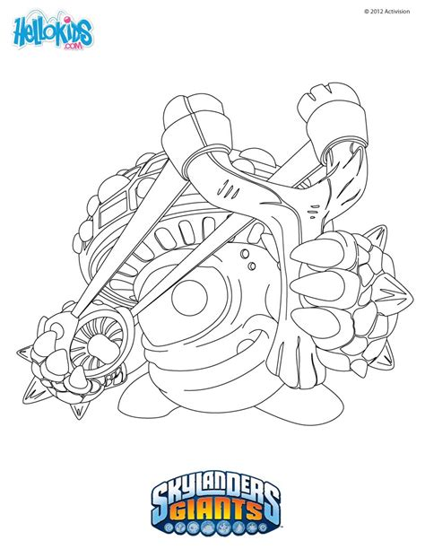 skylanders superchargers characters coloring pages