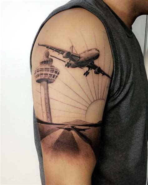 airplane tattoos 50 inspiring travel tattoos for travel addicts nomad