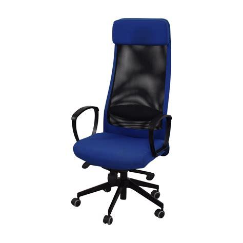 82 Off Ikea Ikea Markus Blue Swivel Chair Chairs Blue Swivel Chair