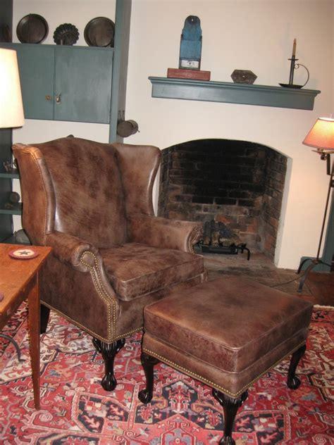 alter ohrensessel ohrensessel mit hocker f 252 r vintage ambiente zuhause